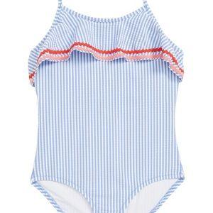 J Crewcuts girls 4-5 seersucker swimsuit
